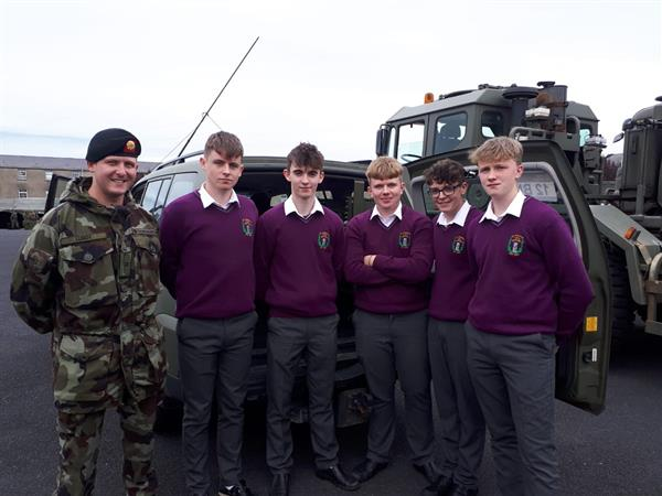 Some of our TY students enjoying a day at Sarsfield Barracks in Limerick