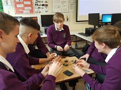 Transition Year students working on Raspberry Pi 3 and an Arduino board