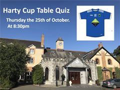Harty Cup Table Quiz Thursday at 8:30pm