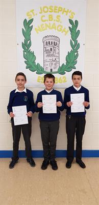Maths Quiz Winners