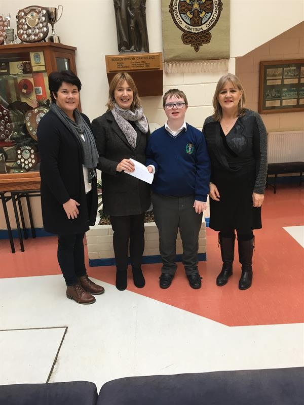 Competition win for Eoghan Coffey, St. Justin's Class