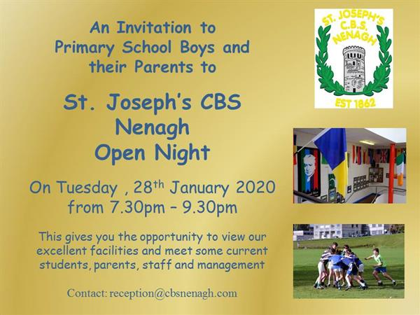 St. Joseph's CBS Nenagh Open Night 2020