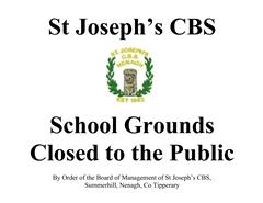 School Grounds Closed to the Public